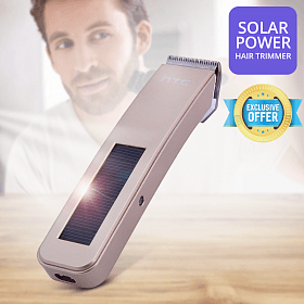 HTC Solar Power Rechargeable Electric Hair Trimmer AT-203