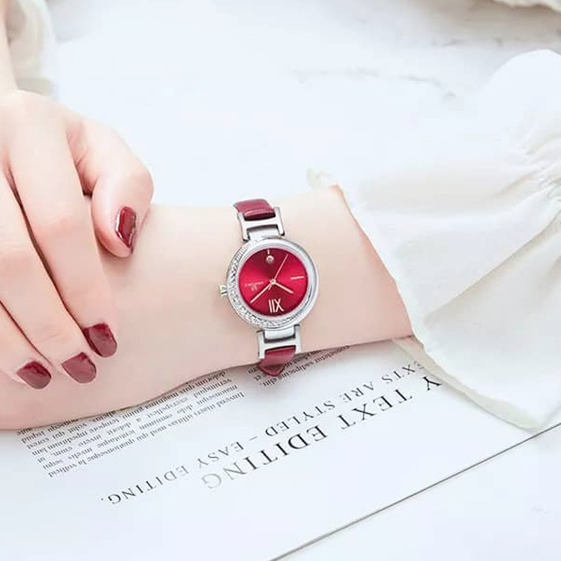 NAVIFORCE NF5007 Women Casual Leather Watch With Calendar