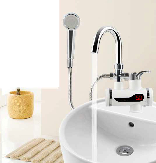 Digital Instant Hot Water Tap electronics Hand Shower Free