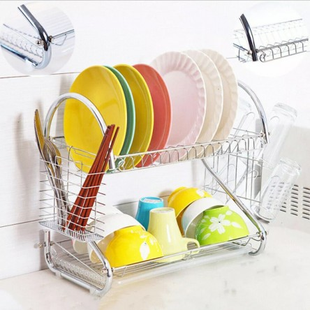 NEW ARRIVAL 2 LAYER DISH DRAINER